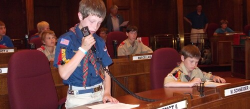 Boy Scouts Use Toms Desk
