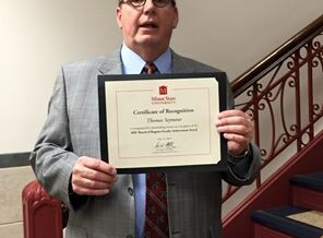 Dr. Tom Seymour Awarded the 2015 Minot State University Faculty Regents Award for Service